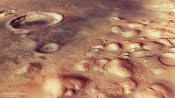 Perspective view in the Colles Nili region on Mars