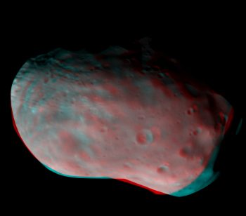 Phobos in 3D by ExoMars